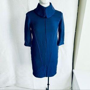 Anthropologie S Retro 60s High Collar Mini Dress